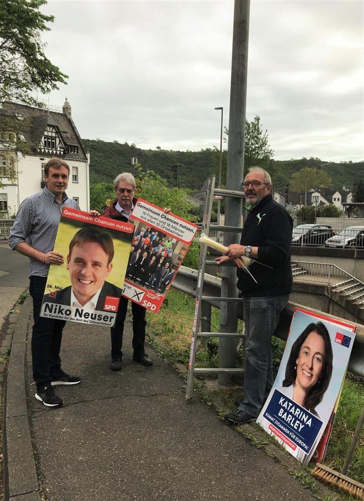 Ostern ist vorbei. Wahlkampf hat begonnen. Heute Beginn der Plakatierung, damit niemand bis zum 26. Mai seine Wahl vergisst.